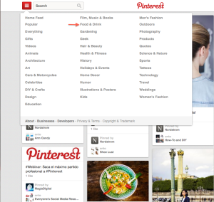 Search Pinterest by Category