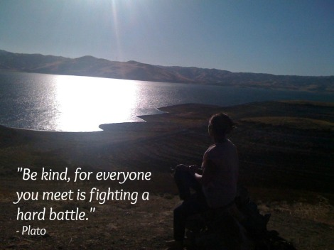 Plato Quote - Be kind, for everyone you meet is fighting a hard battle.