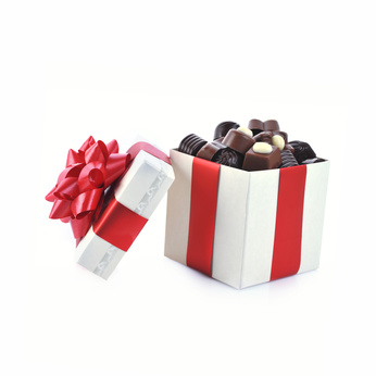 Image of assorted chocolates in a gift box