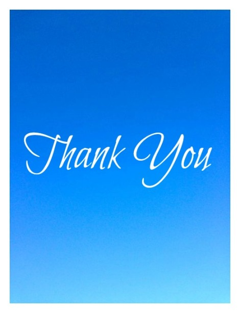 Image with Thank You note