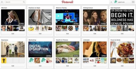 Image of gapmuse Pinterest boards