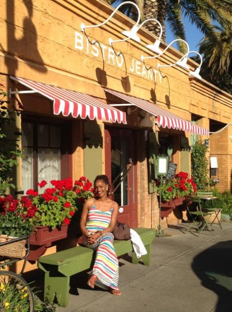 Image of me in front of Bistro Jeanty in Yountville