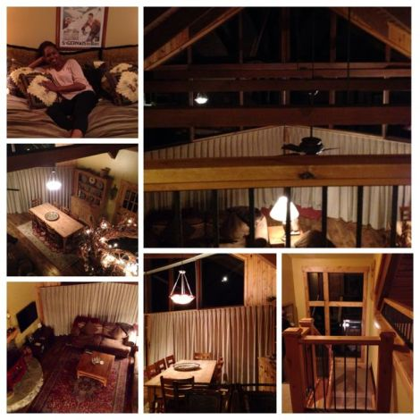 Collage of Lake Tahoe cabin