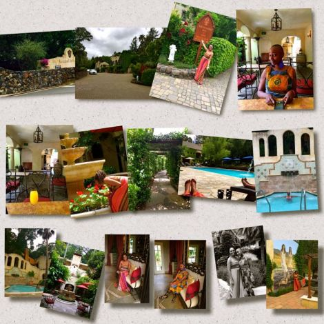 Collage of photos taken at Kenwood Spa