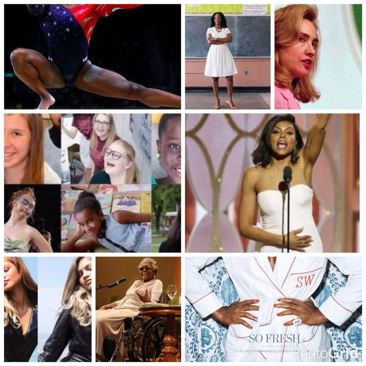 Collage of women who have inspired gapmuse in 2016.