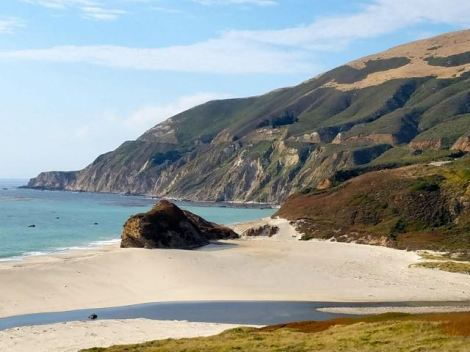 Image of beautiful beach by Highway 1