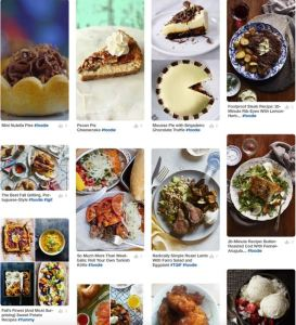 Photo collage of food including main dishes, side dishes, desserts and more