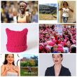 Image of women that inspired us, popular hashtags of 2017, Pussy Hat, Women Marching in January