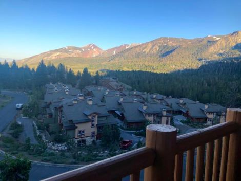 Juniper Springs Resort - Studio Apartment - View of the Mountains from Balcony