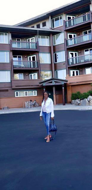 Image of Woman standing in front of Juniper Springs Resort