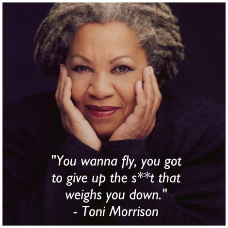 Image of Author Toni Morrison with the quote