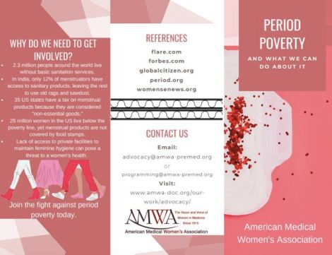 Infographic about period poverty and what you can do to help end it.